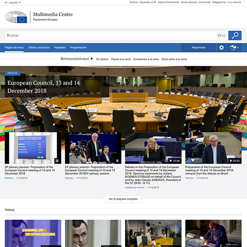 EUROPEAN PARLIAMENT – Multimedia Centre